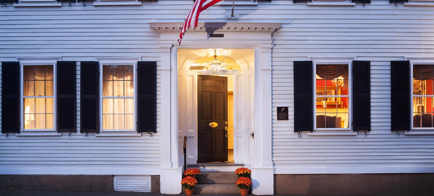 The exterior of our Marblehead, MA Hotel