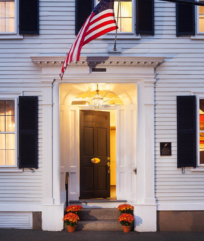 The exterior of our Marblehead, MA bed and breakfast