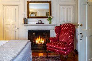 Marblehead Inn - Room 21 fireplace