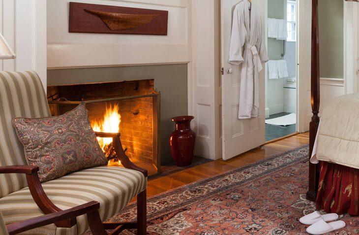 Bed and Breakfast Near Salem, MA - Room #6 Fireplace