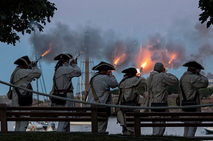 Marblehead history Regiment at Fort Sewall