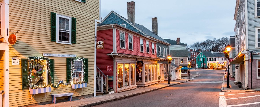historic downtown Marblehead, MA